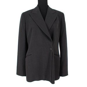 Giorgio Armani Striped Wool 2 Piece Suit Jacket 42